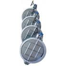 Заслонка поворотная фланцевая/межфланцевая, типа «Баттерфляй» для газа, воздуха Серия MF