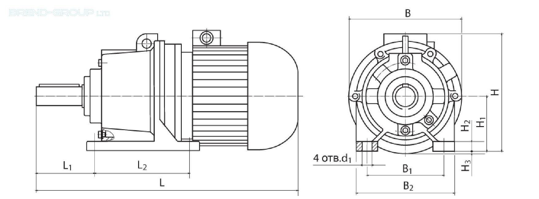 планетарный мотор-редуктор схема